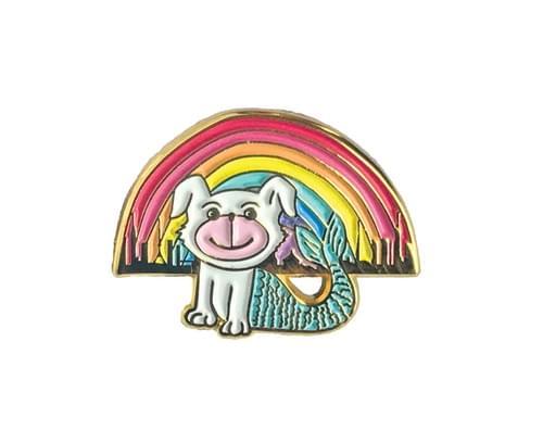 Merdoggo Rainbow Tokyo Soft Enamel Pin