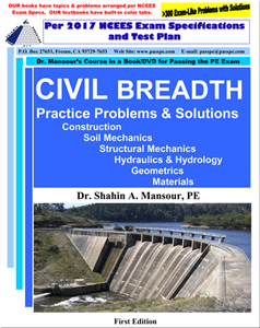Civil Breadth Practice Problems and Solutions 1st Edition