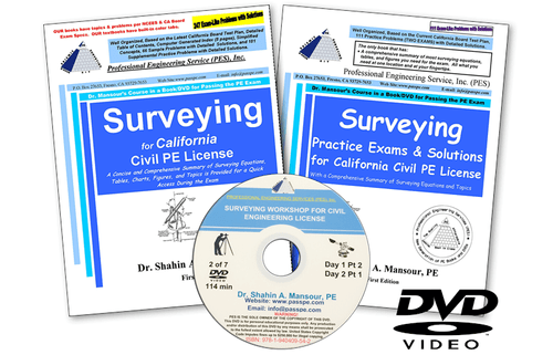 Surveying Workshop DVD Package #1 for California PE Civil License