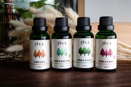 100%台灣檜木 玫瑰/野薑花/茶香 複方精油 30ml 通過SGS檢驗