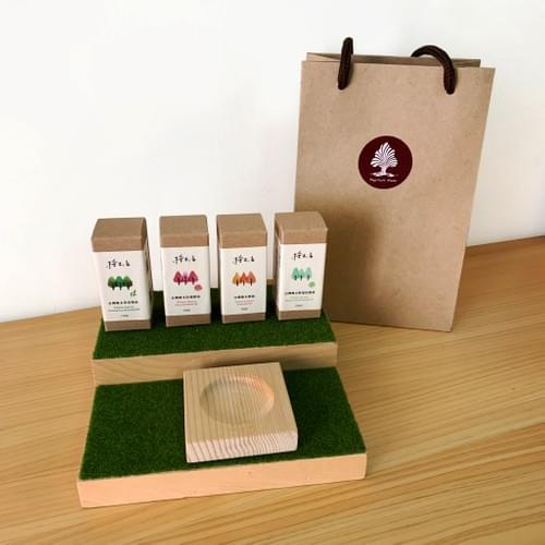 獲選2019百大伴手禮得獎商品 台灣檜木精油 單方 複方 精美禮盒包裝 通過SGS無毒檢驗 贈擴香台