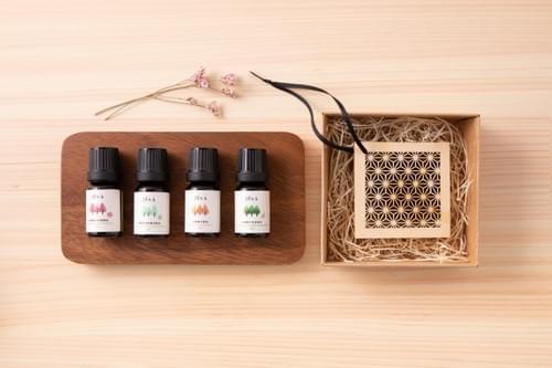 檜香窗花 和風擴香吊飾組-麻之葉/附10ml純檜精油