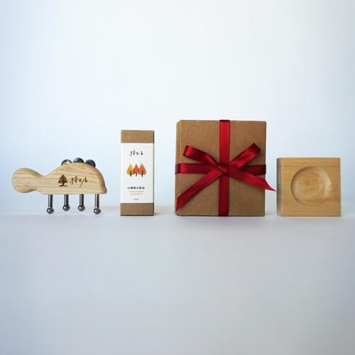 獲選2019百大伴手禮得獎商品 【居家按摩台灣檜木精油禮盒】