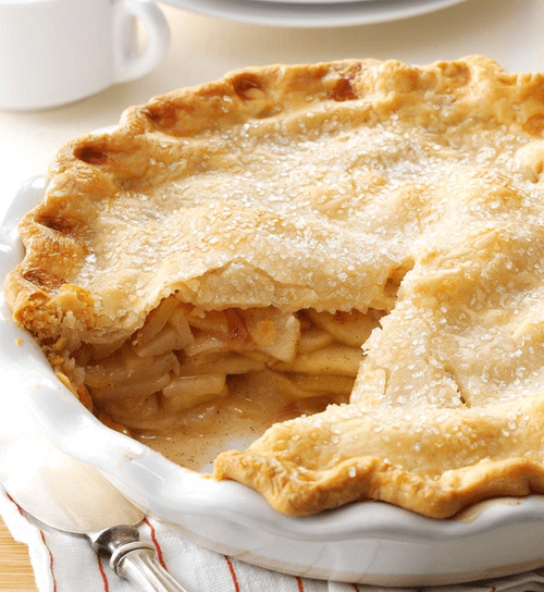 Apple Pie with double cream