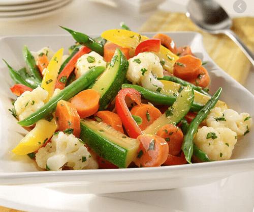 Steamed Seasonal Vegetables  V, Ve, GF