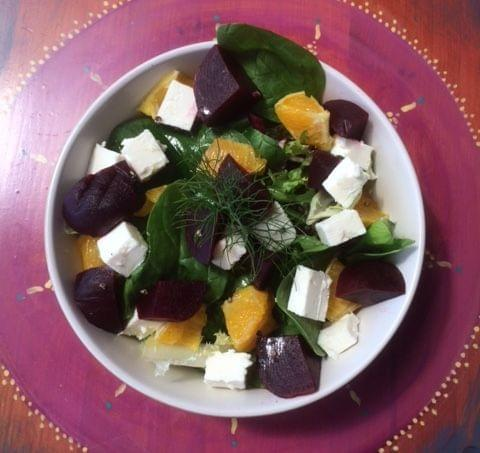 Beetroot, orange & Feta Salad