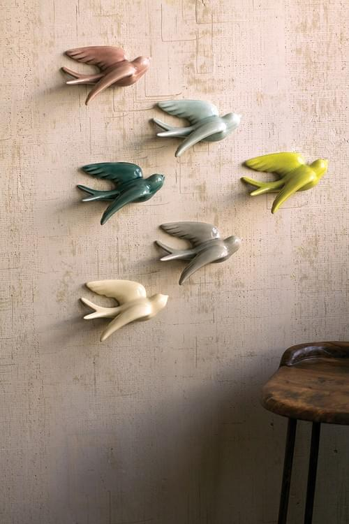 BIRDS OF A FEATHER -SET OF 6 WALL DECOR