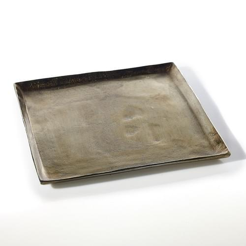 Metallic Square Tray