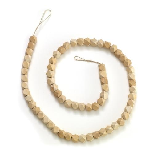 6' Geo wood beaded garland