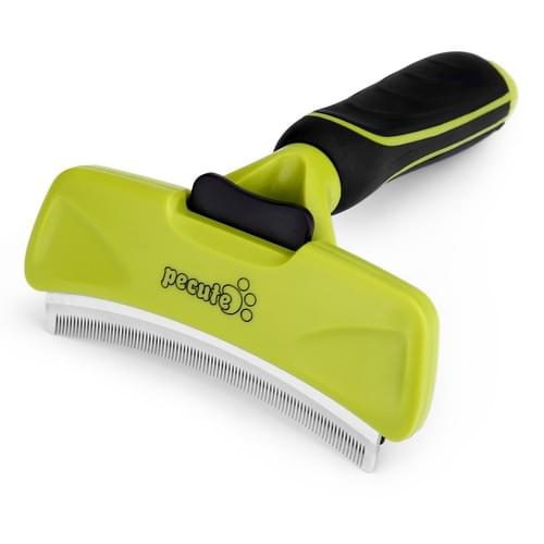 Pecute Deshedding Tool Curved Comb Blades Grooming Brush