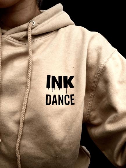 INK Dance Stamp Oatmeal Hoody