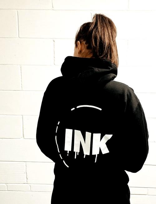 INK Dance Stamp Black Hoody (unisex)