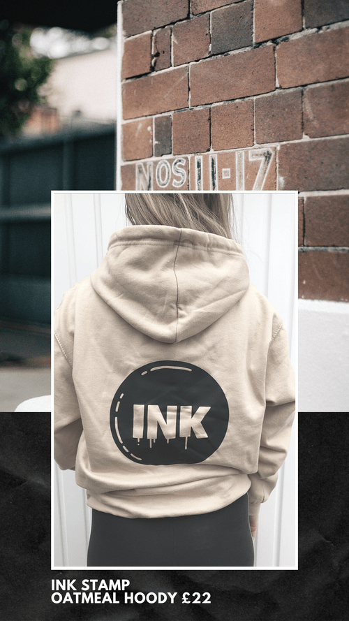 INK Dance Stamp Oatmeal Hoody