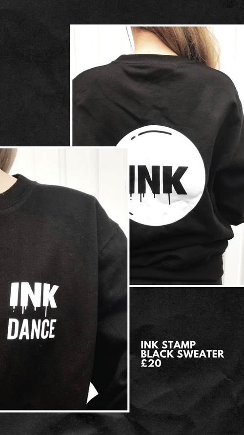 INK Stamp Black Sweater