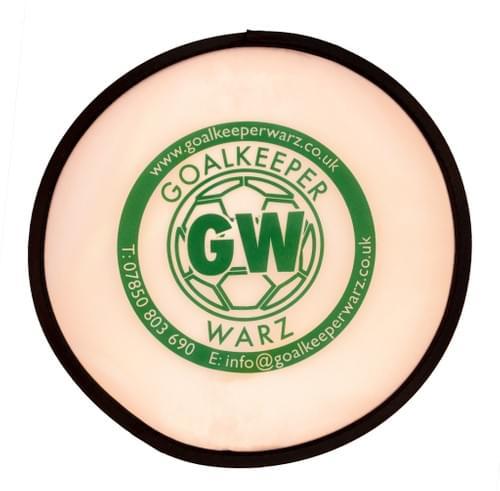 Frizbee with Goalkeeper Warz Logo