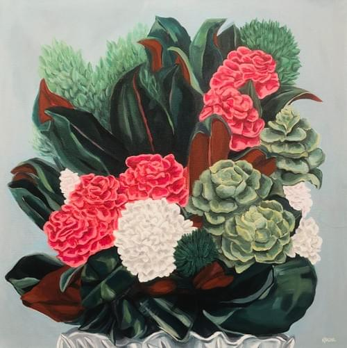 Rosettes Painting