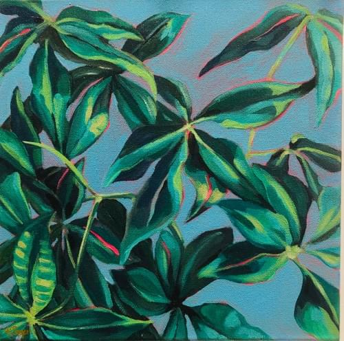 Spring Leaves Painting
