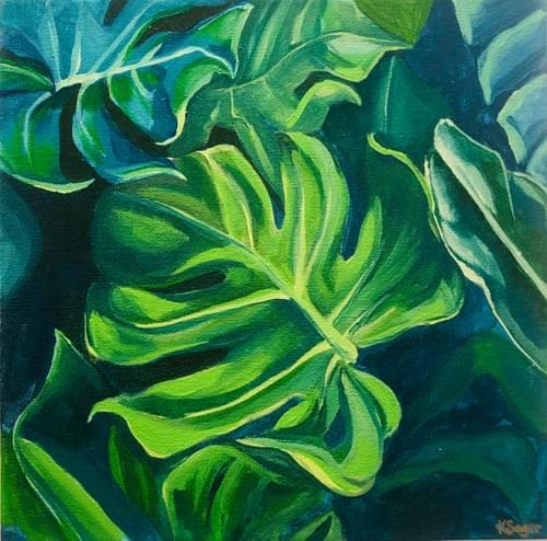 Tropical Leaf #1 Painting