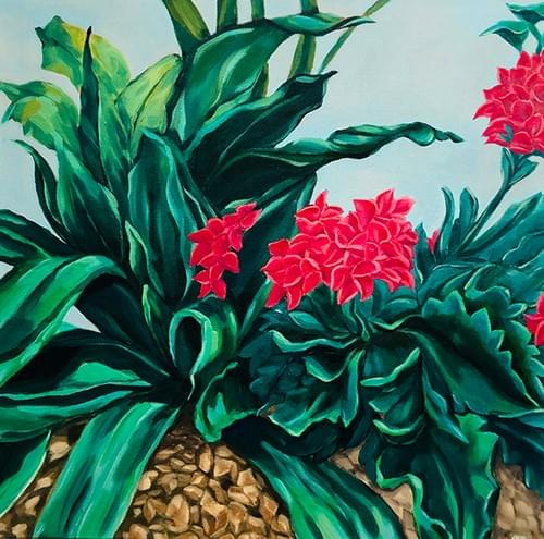 Floral Garden Painting