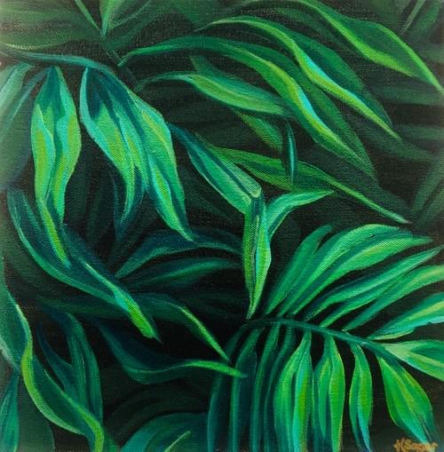 Tropical leaf #2 Painting