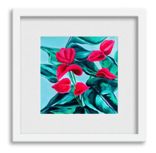 Pink Foliage Print 2