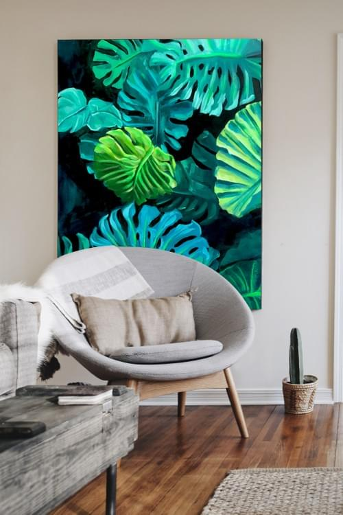 Tropical Leaves Painting 1