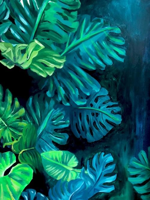 Tropical leaves painting 2