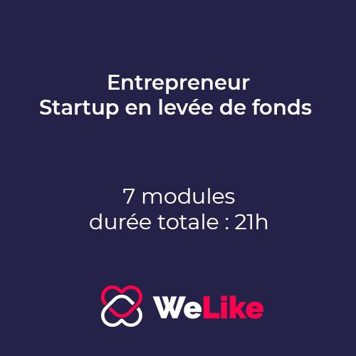 Formation Entrepreneur - Startup en levée de fonds