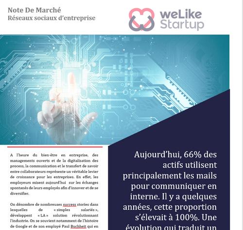 Réseaux sociaux d'entreprise - Note de Marché (8 pages)