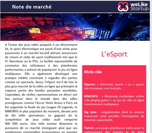 Esport - Note de marché           (4 pages)
