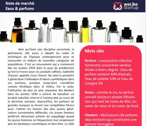 Eaux & Parfums - Note de marché (4 pages)