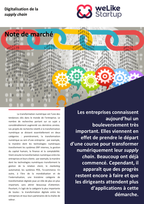 Digitalisation de la supply chain - Note de marché (4 pages)