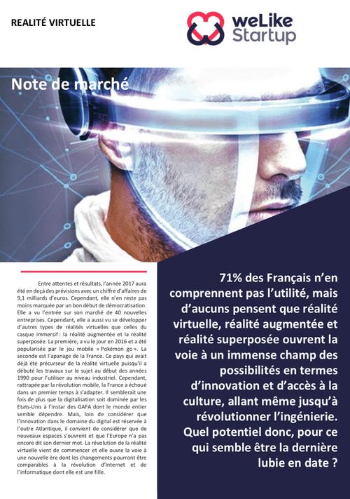 Réalité virtuelle - Note de marché (4 pages)
