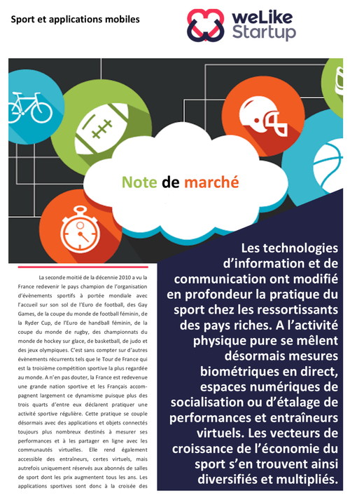 Applications sportives - Note de marché (4 pages)