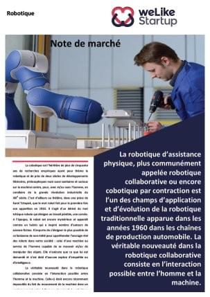Robotique collaborative - Note de marché WLS (4 pages)