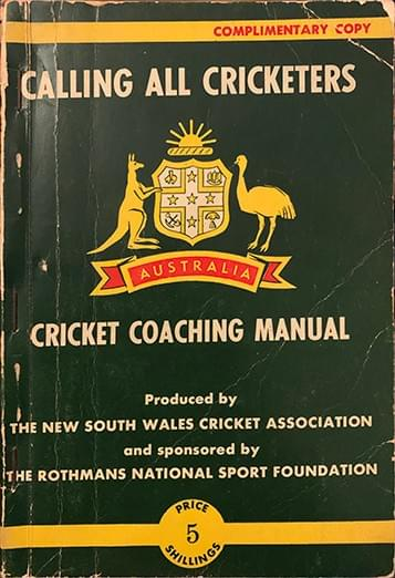 Calling All Cricketers: Cricket Coaching Manual - NSW Cricket Association