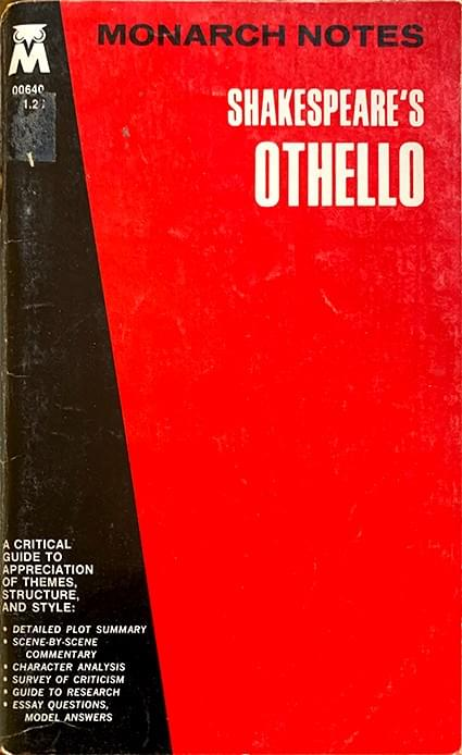 Shakespeare's Othello (Monarch Notes) - Grace, William J.