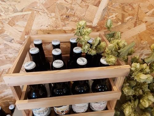 Coffret en bois 12 bouteilles