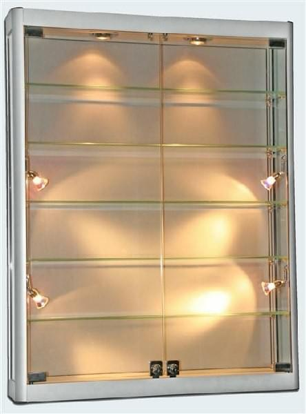 SQ-WC10-12 Glass Wall Cabinet  1000mm W x 250mm D x 1200mm H