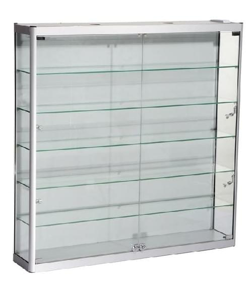 SQ-WC12-12 - Glass Wall Cabinet  1200mm W x 250mm D x 1200mm H