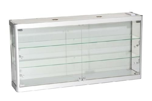 SQ-WC12-6  Glass Wall Cabinet  1200mm W x 250mm D x 600mm H -