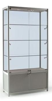 Glass Display Cabinet With Storage Cupboard - The SQ Range