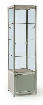 Glass Tower Cabinets With Storage Cupboard