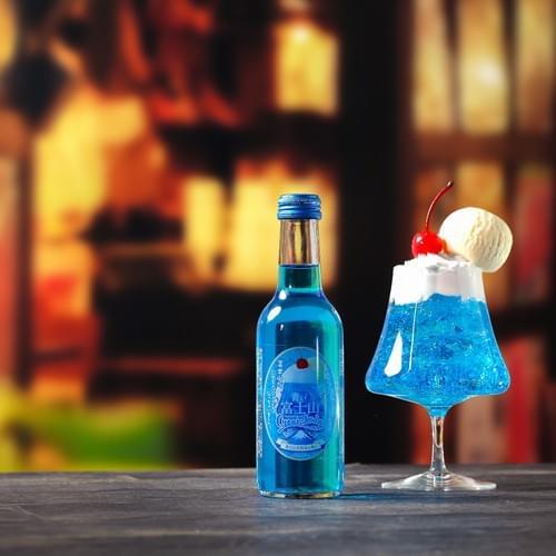 青い富士山クリームソーダ 食品サンプル