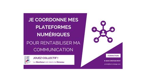 COORDINATION : Je coordonne mes plateformes numériques pour rentabiliser ma communication