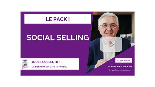 LE PACK SOCIAL-SELLING 8 modules 45 vidéos : Je construis mon business grâce aux réseaux