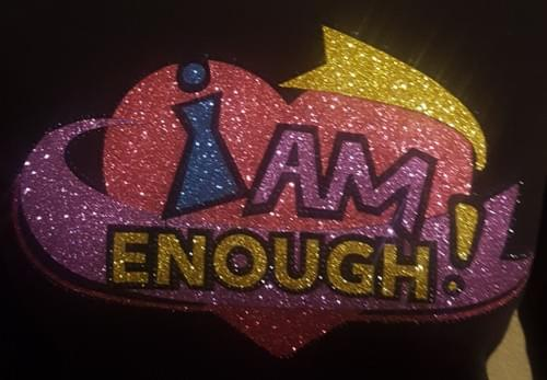 Limited Edition - I Am Enough 3/4 Sleeves Black Shirt