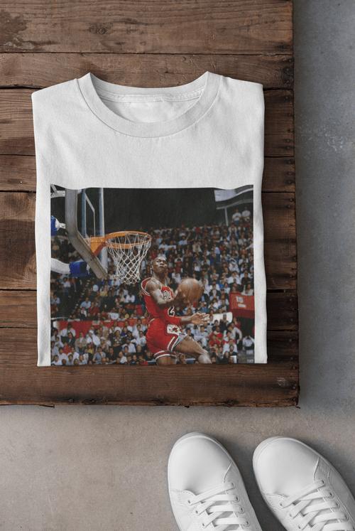 NBA Michael Jordan Leaning Windmill 1987 NBA Slam Dunk Contest Size Large & XL