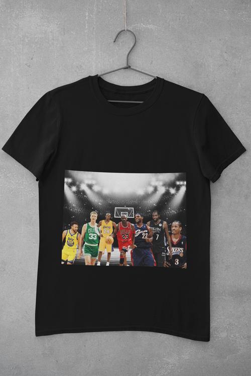 NBA BASKETBALL LEGENDS Black & White Short Sleeve T-Shirt Size Large & XL