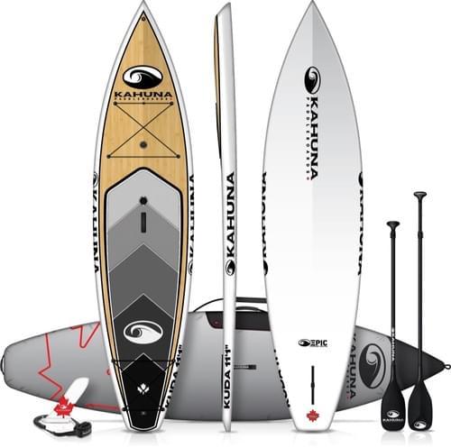 "Kahuna Kuda 11'1"" Bamboo Touring Paddleboard Package"